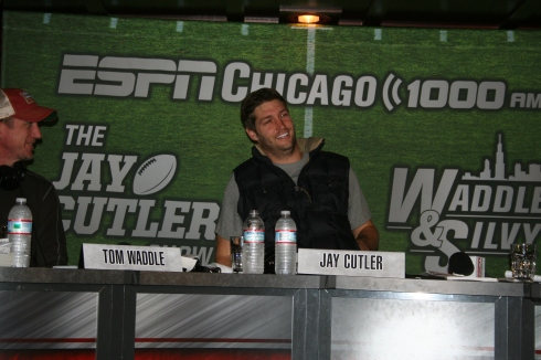 Jay Cutler Show Waddle and Silvy Tommy Nevin's Evanston HUNKSrHANDBAGS